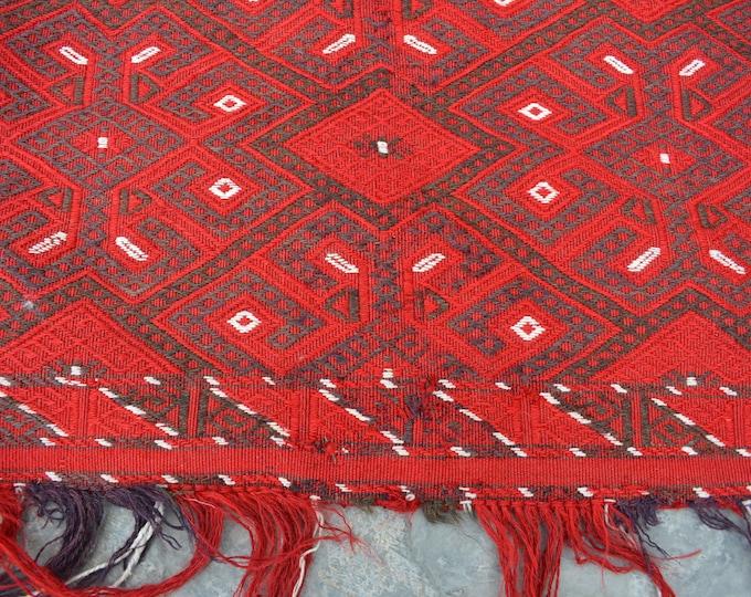 Afghan kilim Woolen Afghan tribal floor Balisht Cushion Case Big Pillow Decor Piece/ Saddle bag