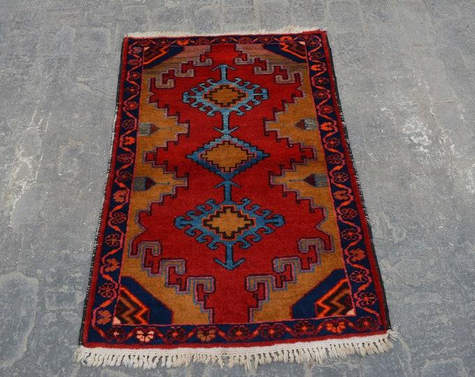 Vintage Geomatric Design Tribal caucasian carpet/ Decorative rug Caucasian traditional rug / stunning bohemian decor rug