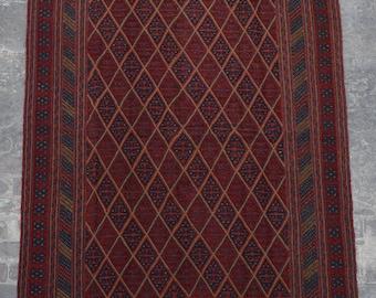 vintage afghan tribal mishwani kilim rug