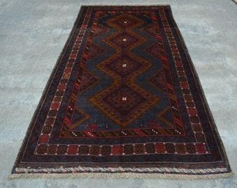 Afghan vintage Zanjir Gul Rug nomad rug 100% wool