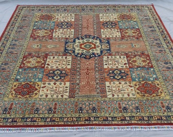 8'1 x 9'8 ft Elegant super Quality hand knotted Afghan Ayna Rug decorative this rug will make your room even more beautiful