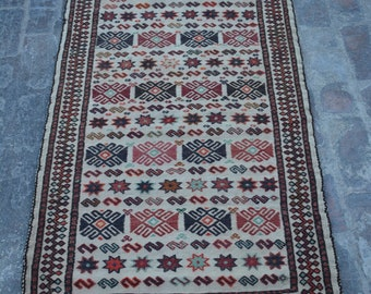 Turkoman Natural Dye Soft Woolen Afghan tribal floor kilim Balisht Cushion Case Big Pillew Decor Piece