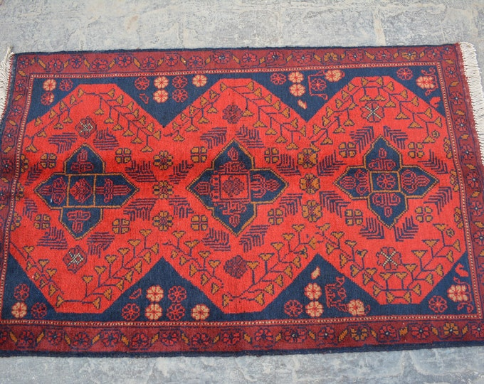 Vintage Afghan turkoman kizilayak handmade wool rug / Decorative rug vintage afghan traditional rug runner/ Bohemian Decor rug