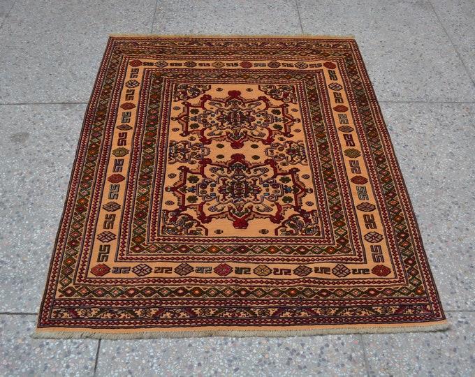 Fine Quality Afghan Burjesta tribal handmade kilim rug