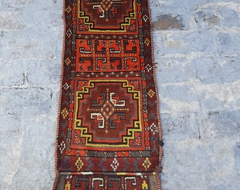 1'5 x 4'0 ft. Vintage Afghan Traditional jalar wall decor kilim, Wall hanging kilim decor, FREE SHIPPING