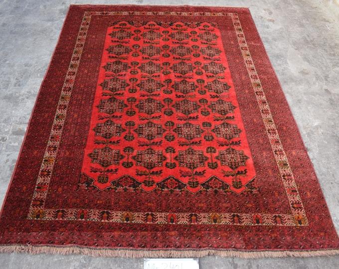 Vintage Afghan rug, Gulnaqsha rug, Tribal large rug, Nomad vintage rug, Qunduzi rug,