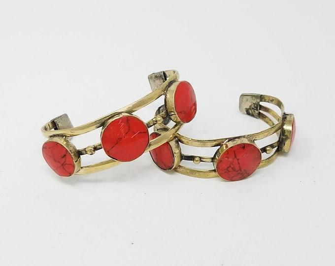 Beautiful 2 pcs Afghan kuchi Traditional Bracelets , gypsy Statement /Afghan jewelry , Gypsy style jewelry Boho style