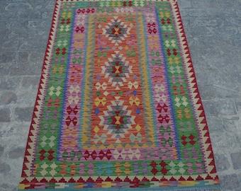 Large Vintage Stunning handwoven tribal Afghan hazara Ghalmori kilim / Traditional kuchi kilim decorative Turkish kilim