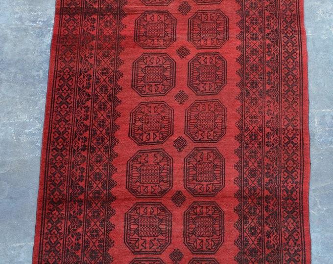 Elegant Afghan tribal Suleymani hand knotted rug runner 5'2 x 13'6 ft.