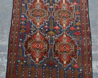Vintage Afghan baluchi tribal handmade wool rug / Decorative rug vintage afghan traditional rug