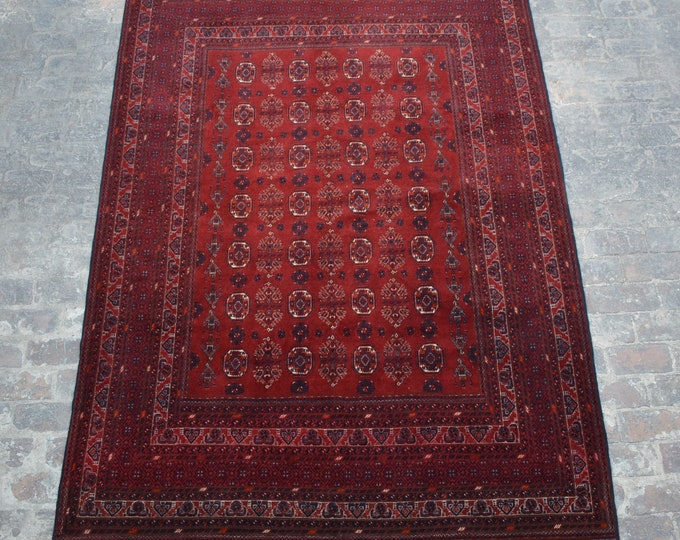 Vintage Afghan turkoman tribal Traditional handmade wool rug / Decorative rug vintage afghan traditional rug / tribal handmade afghan decor