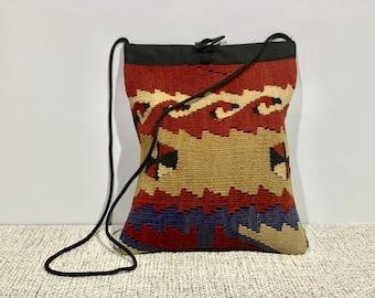 Boho Messenger Bag Women Crossbody Bag Kilim Bag/ turkish handmade kilim bag