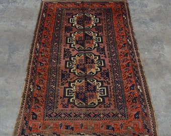 1920's Antique Hand knotted Caucasian rug