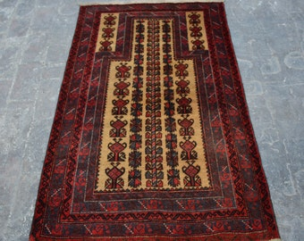 vintage Kawdani Afghan Nomadic tribal handmade wool prayer rug / Decorative rug vintage afghan traditional kawdani prayer rug