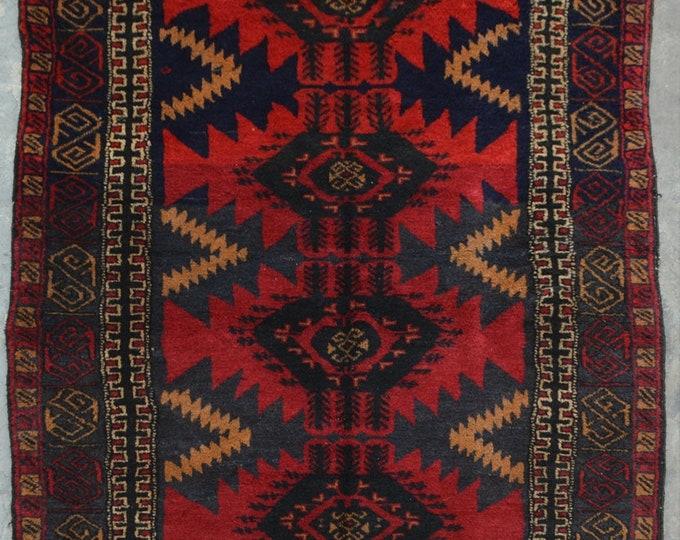 Elegant Afghan turkoman traditional vintage nomad baluchi rug
