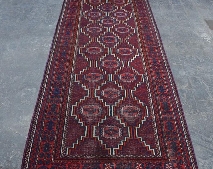 1920's Antique Afghan turkoman tribal handmade wool rug / Decorative rug vintage afghan traditional Sarook rug/ nomadic afghan rug