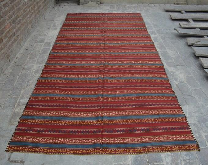 Vintage Spectacular handwoven tribal Uzbeki Shawl nomadic kilim / Traditional kuchi kilim/ decorative Turkish Gypsy kilim