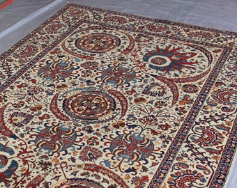 6'6 x 9'6 Turkish Medallion rug - luxury handmade rug - Mamluk handmade rug - 50x50 Quality wool rug - Afghan best quality rug