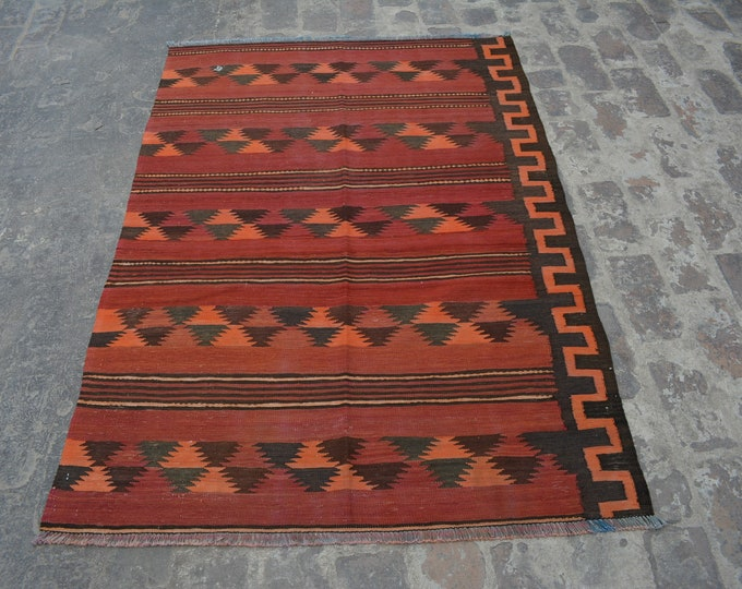 Vintage Stunning handwoven tribal Afghan hazara Maldari kilim / Traditional kuchi kilim decorative Turkish kilim