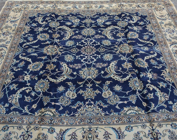 Stunning hand knotted caucasian tribal wool rug / Decorative rug vintage Caucasian traditional rug