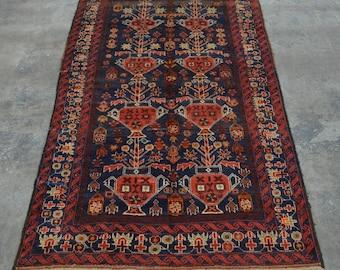 Vintage Afghan turkoman nomad gul dan baluch rug 100% wool