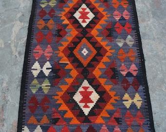 FREE SHIPPING - Flatwoven Afghan Chobi Kilim, Modern kilim Rug
