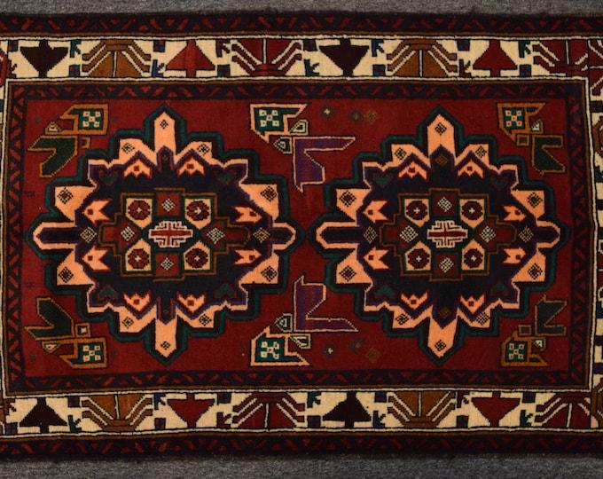 Stunning hand knotted Afghan tribal wool rug / Decorative rug vintage afghan traditional rug