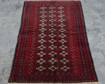 Vintage Hand knotted Area rug / Turkish Home decor rug Caucasian Good Quality Authentic Traditional rug