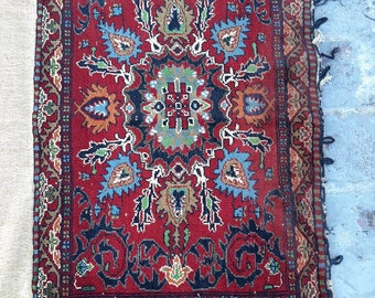 1'7 x 2'8 ft. Afghan Baluch Balisht Bag, Nomadic Wall Hanging, Tribal Style Tapestry