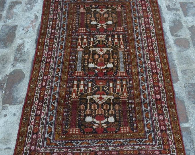 Vintage Afghan Alikhoja tribal handmade wool rug / Decorative rug vintage afghan traditional rug