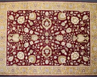 Elegant Hand knotted Turkish area rug / Large hand knotted Home decor rug  9 x 12 / large area rug