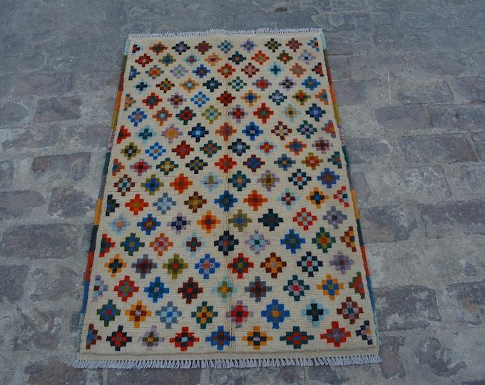Vintage Afghan Bohemian Decorative handmade wool rug / Decorative rug vintage afghan traditional gypsy rug