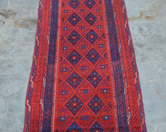 Handmade Afghan tribal Kilim Rug Runner 100% wool