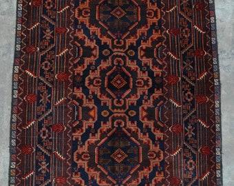 Elegant Afghan Decorative vintage baluchi rug