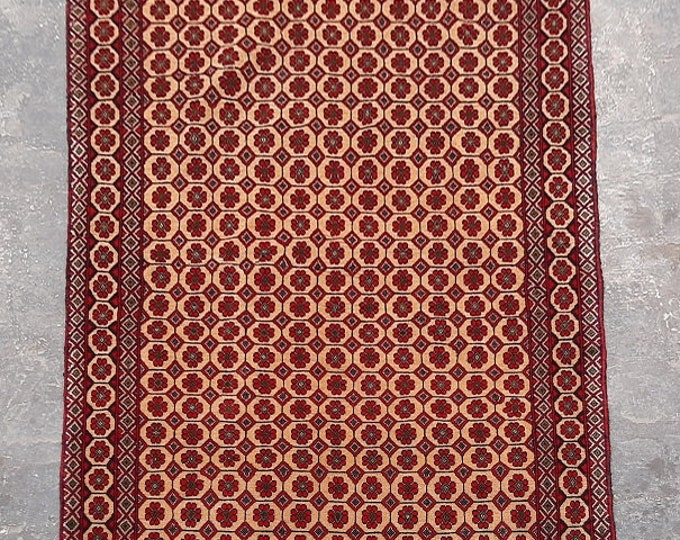 3'7 x 6'6 ft. Afghan tribal hand knotted rug, Traditional Baluchi rug, Free Shipping