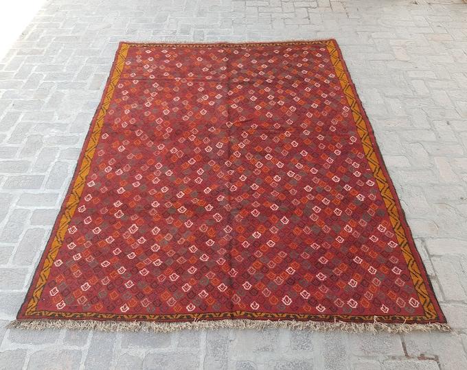Handmade Tribal Boho rug - Turkish Wool rug - Oriental rug - Living room rug - tribal baluch rug - bedroom rug - free shipping