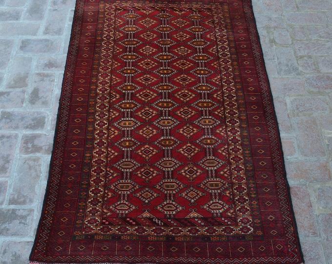 Vintage Afghan handmade zahirshah rug