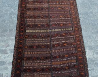 Stunning hand knotted Afghan tribal wool burjesta kilim rug / Decorative rug vintage afghan traditional rug