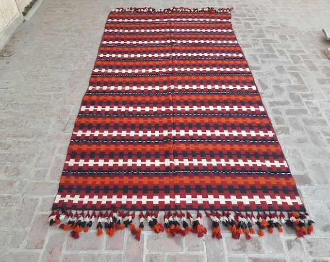 Afghan Gajari kilim rug , Tribal Flatweave Gajari kilim, Free Shipping