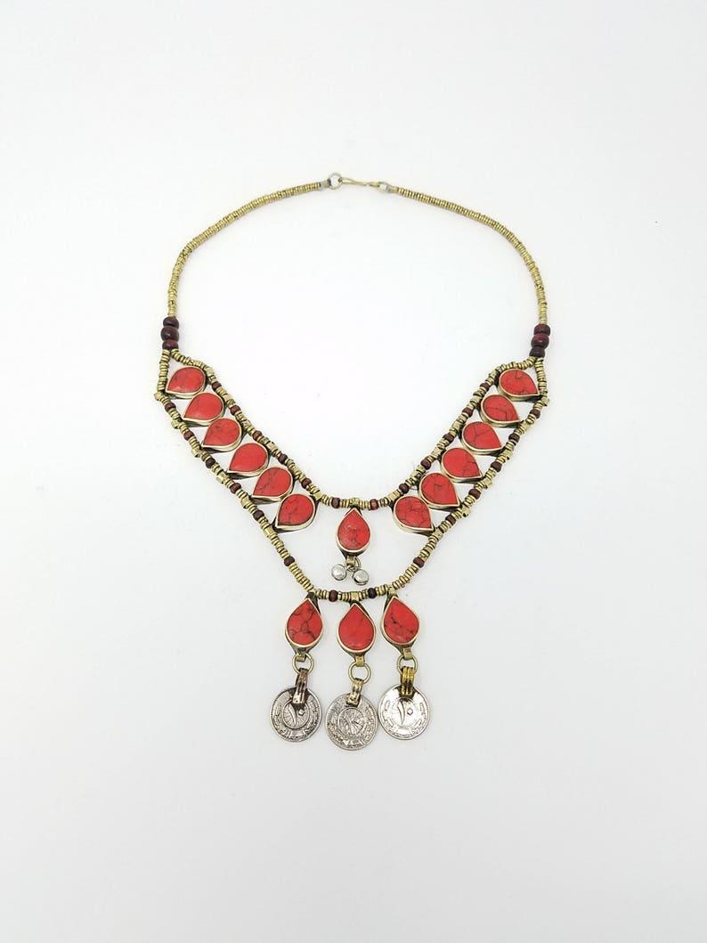 tribal pendant boho style Afghan jewelry Beautiful Afghan Kuchi necklace