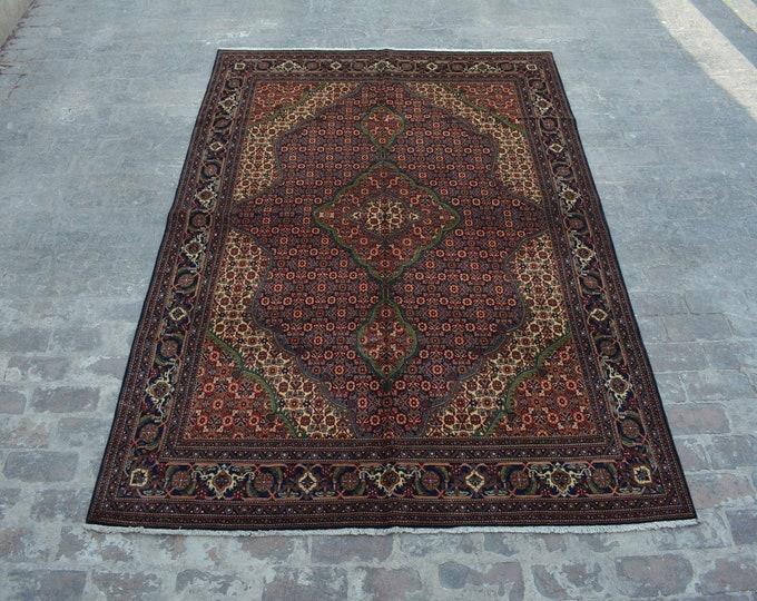 High Quality Afghan turkoman hand knotted Tabriz Style rug / Decorative Afghan rug / 100% wool