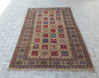 Large Afghan area rug, Living room rug, Bedroom ayna rug, Tribal handmade rug, Free shipping