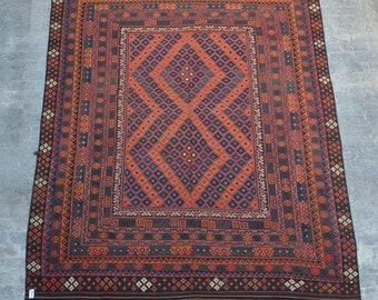 Large Stunning handwoven tribal Afghan hazara Ghalmori kilim / Traditional kuchi kilim decorative Turkish kilim/ Bohemian Afghan kilim
