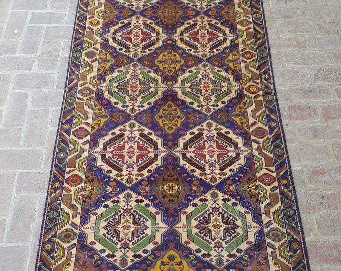 Elegant Afghan Zakani Baluch rug, Fine wool rug, Tribal handmade rug, Bedroom decor rug, Kitchen rug, Free shipping