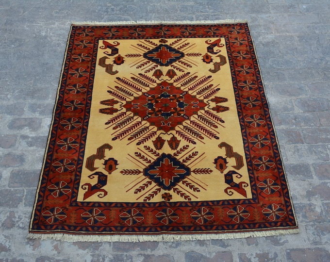 High Quality turkoman tribal  Kargahi handmade wool rug / Decorative rug vintage afghan traditional rug