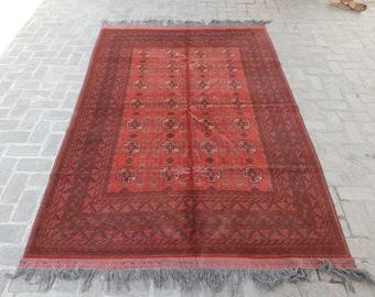 Vintage Afghan Kunduz Rug - Fine Afghan rug - Bedroom rug - Wool rug - Living room rug - Free Shipping - Handmade Tribal rug