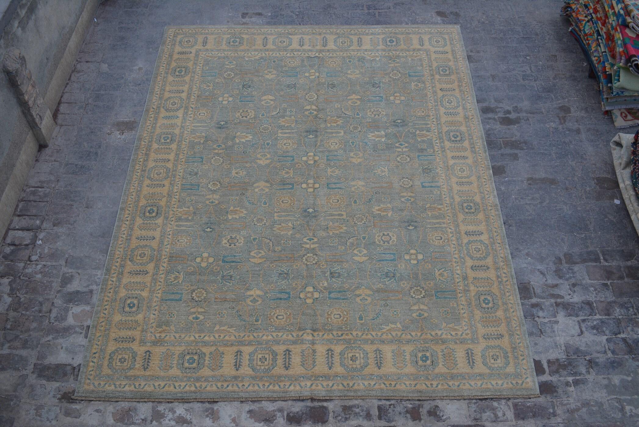 9 4 X 12 2 Handmade Unique Design Oushak Chobi Afghan