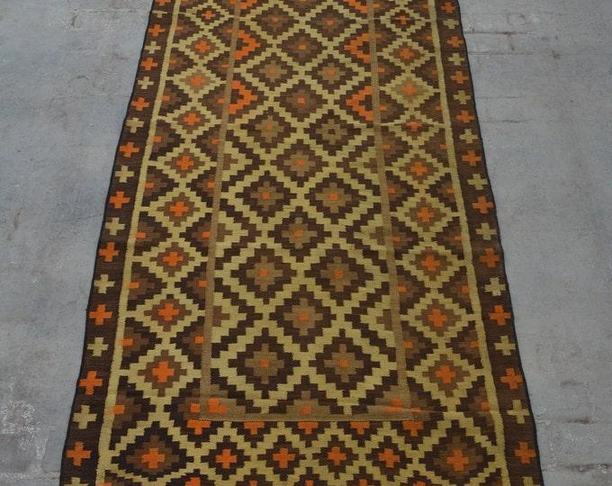 Vintage Afghan handwoven Sumak Qalati / Decorative Afghan Traditional kilim rug 100% wool