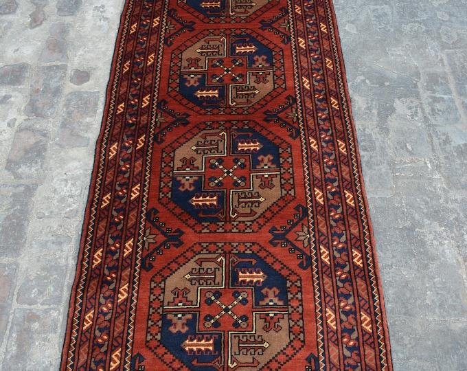 Afghan turkoman Kargahi tribal Filpai rug runner handmade wool rug runner/ Decorative rug vintage afghan traditional rug runner