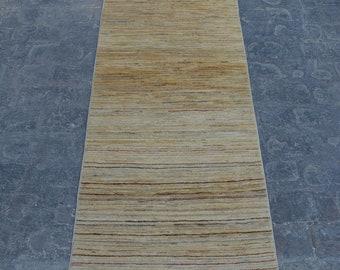 Hand knotted Afghan tribal gabbeh rug runner / decorative rug vintage afghan rug/ contemporary rug runner